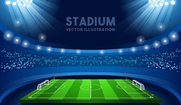 voetbal stadium