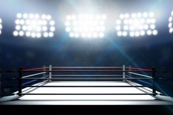 Vechtkunst van boksers Anthony Joshua en Carlos Takam